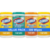 Clorox Disinfecting Wipes (300 Count Value Pack), Bleach Free Cleaning Wipes - 75 Count Each (Pack of 4)