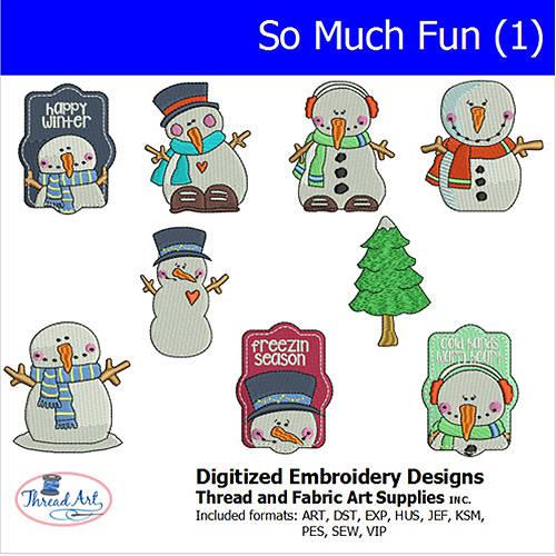 Threadart Machine Embroidery Designs Snow Much Fun(1) CD