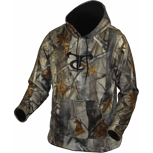 Camo Performance Fleece Hoodie XD3 with Black Side Panels by Springs Creative Products Group, LLC.