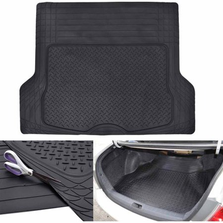 Motor Trend Premium Odorless Heavy-Duty Trimmable Thick Rubber Cargo Floor Mat Liner, 43.2