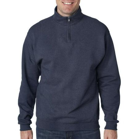Jerzees 995 Mens Nublend 1 4 Zip Cadet Collar Sweatshirt Fleece Jacket