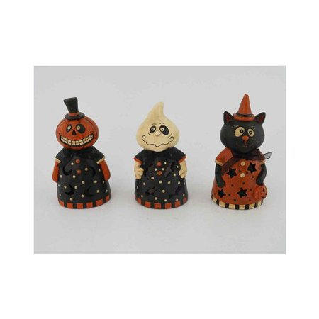 Craft Outlet 3 Piece Papier Mache Halloween LED Lighted Decor Set - Paper Crafts For Halloween