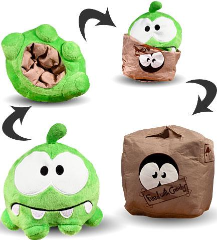 "Cut the Rope Reversible Om Nom 6"" Plush [Cardboard Box]"
