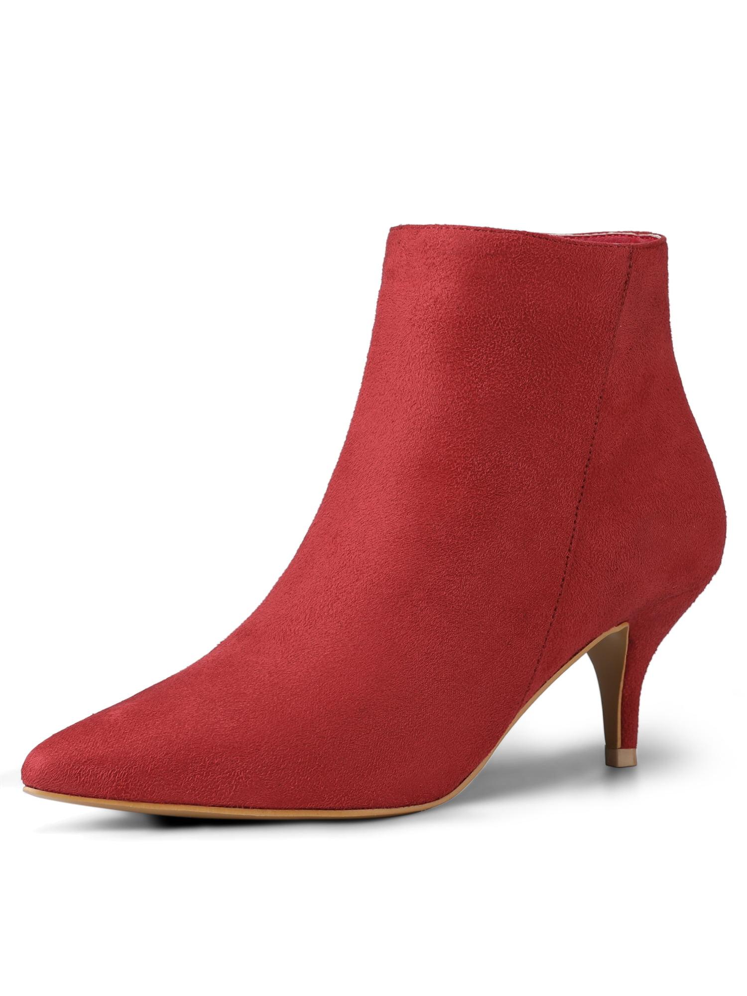 Allegra K Women's Pointed Toe Zip