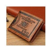 Creative Men Wallet - US Dollar Bifold Wallet PU Leather Short Purses Male Cards Wallets Notecase For Men & Boys Gifts Dark Brown