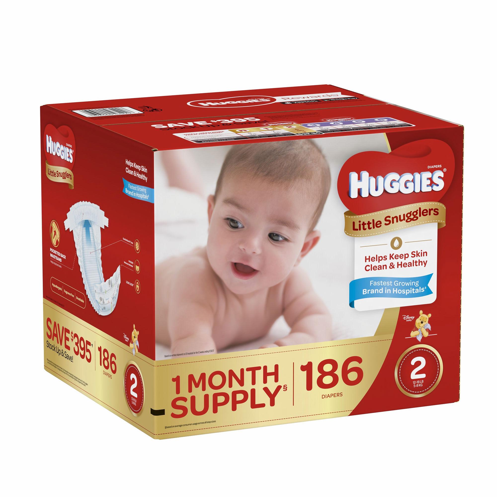 Huggies - Huggies Little Snugglers Diapers- Size 2, Qty O...