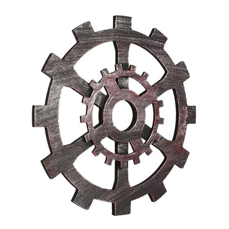 12 inch Diameter Industrial Vintage Wooden Gear Retro wall gear Wall Hanging Home Room Bar Cafe Pub Office Art Decor - image 3 of 7