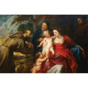 Buy Enlarge 0-587-60222-LP12x18 The Holy Family with Saints Francis and Infant St.  John the Baptist- Paper Size P12x18