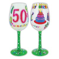 Gift Essentials 15 oz. 50 Better Than Ever Wine Glass