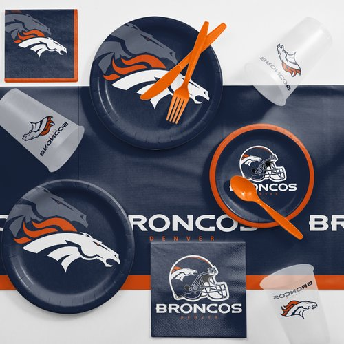 Denver Broncos Game Day Party Supplies Kit