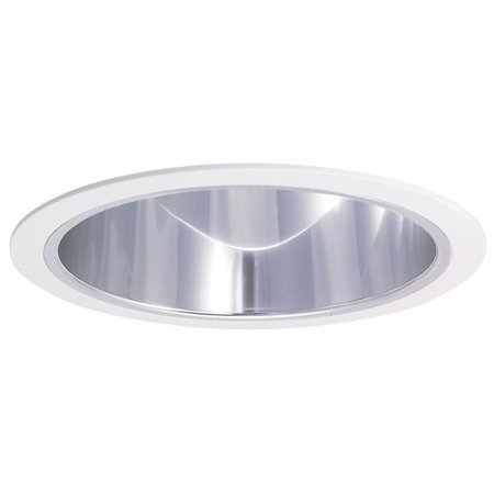 Nora NTA-97N 6 in. Chrome Cone Reflector With Natural Metal (Natural Metal Reflector)