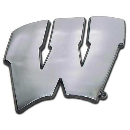 Wisconsin Badgers Chrome Auto Emblem