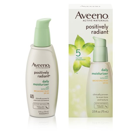 Aveeno Positively Radiant Daily Facial Moisturizer With Broad Spectrum Spf 30  2 5 Fl  Oz