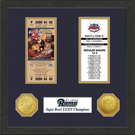 Nfl Framed Wall Art By The Highland Mint  St  Louis Rams   Super Bowl Championship Ticket