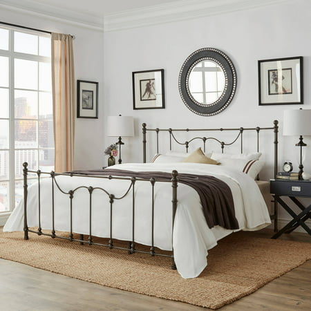 Weston Home Ryde King Size Metal Bed, Multiple Finishes ()