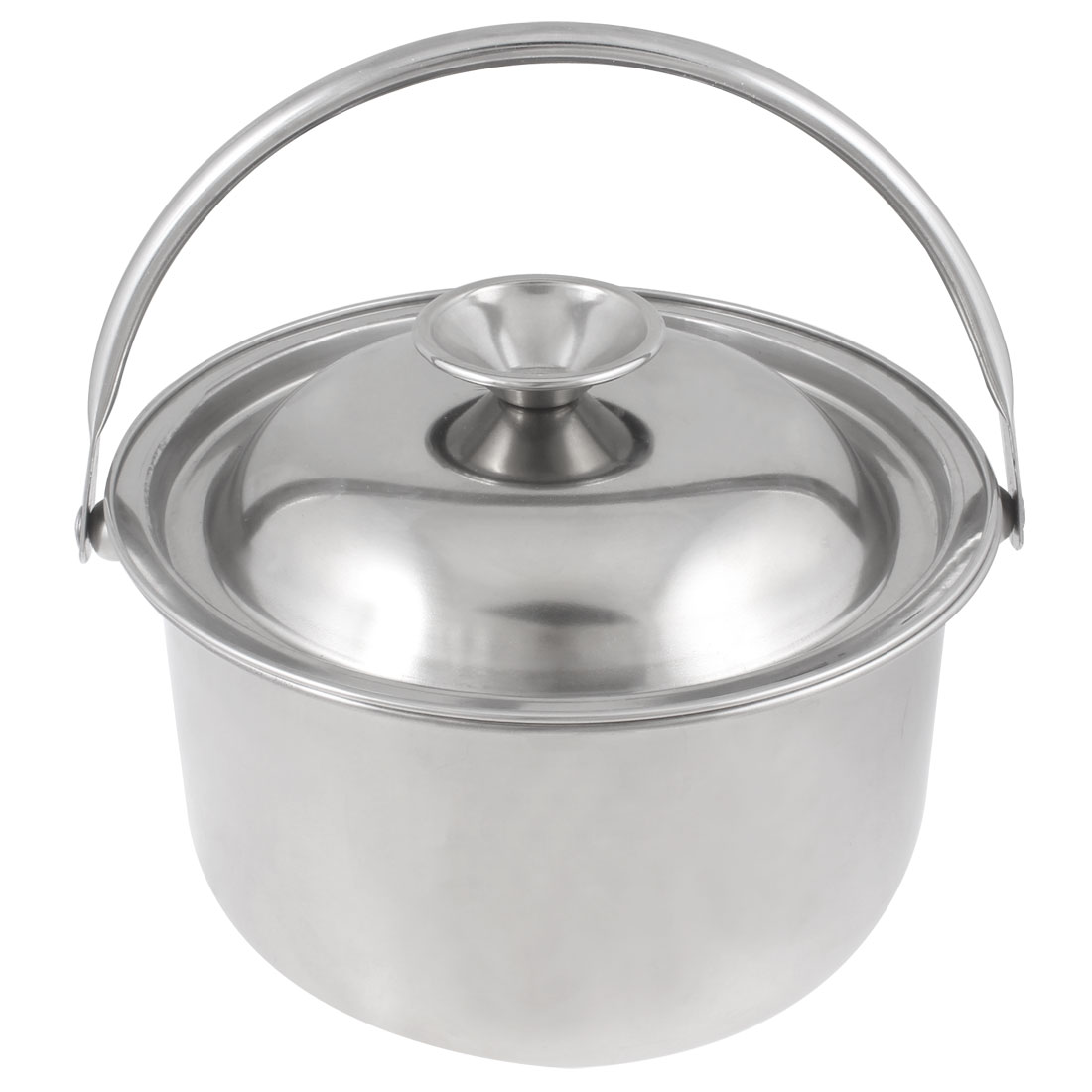 Silver Tone Stainless Steel 16cm Dia Sugar Salt Seasoning Pot Holder Bowl