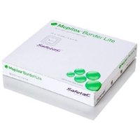 Mepilex Border Lite Thin Silicone Foam Dressing Adhesive with Border Sterile 4 X 4 Inch Square, 6 Boxes of 5