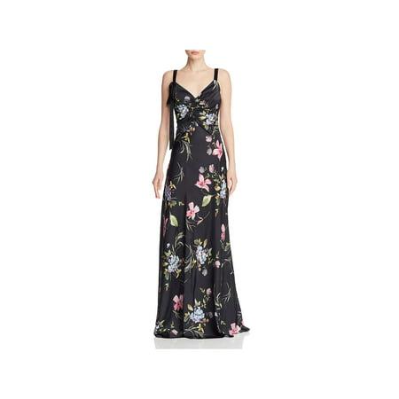 JILL Jill Stuart Womens Satin Floral Evening Dress