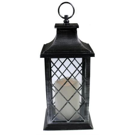 Cheap Decorative Lanterns (Celebrate the Season 12 Inch Decorative LED Lantern w Flickering Candle -)