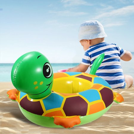 Cute Tortoise Baby Inflatable Swim Ring Pool Raft Chair Seat Float Ring Water Fun Toy Gift Outdoor Play PVC - Inflatable Water Toys