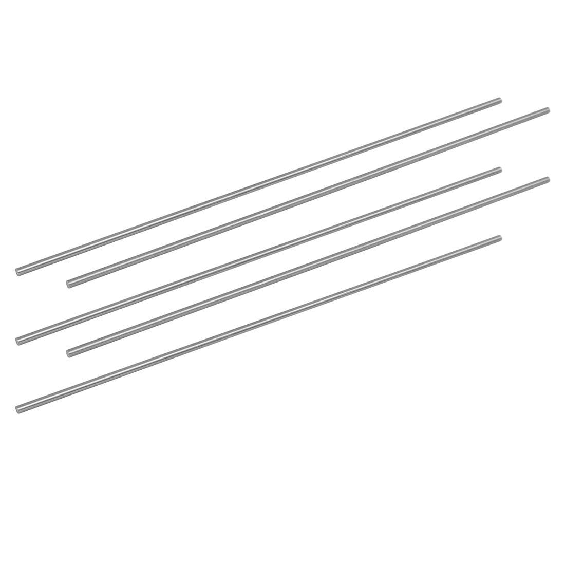 2.5mm Dia 200mm Length HSS Round Shaft Rod Bar Lathe Tools Gray