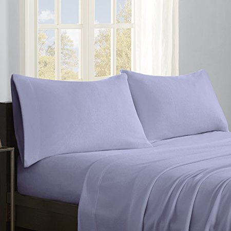 True North by Sleep Philosophy Micro Fleece Full Bed Sheets Set, Casual Ultra Soft Full Size Bed Sheets, 4-Piece Include Flat Sheet, Fitted Sheet & 2 Pillowcases, Lavender - image 1 of 1