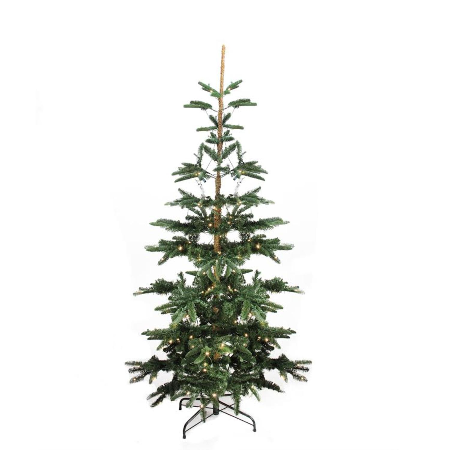 7.5' Pre-Lit Layered Noble Fir Artificial Christmas Tree - Warm Clear LED Lights