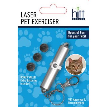 Hitt Brands Pet Exerciser Laser Pointer and Keychain for Cats and Dogs