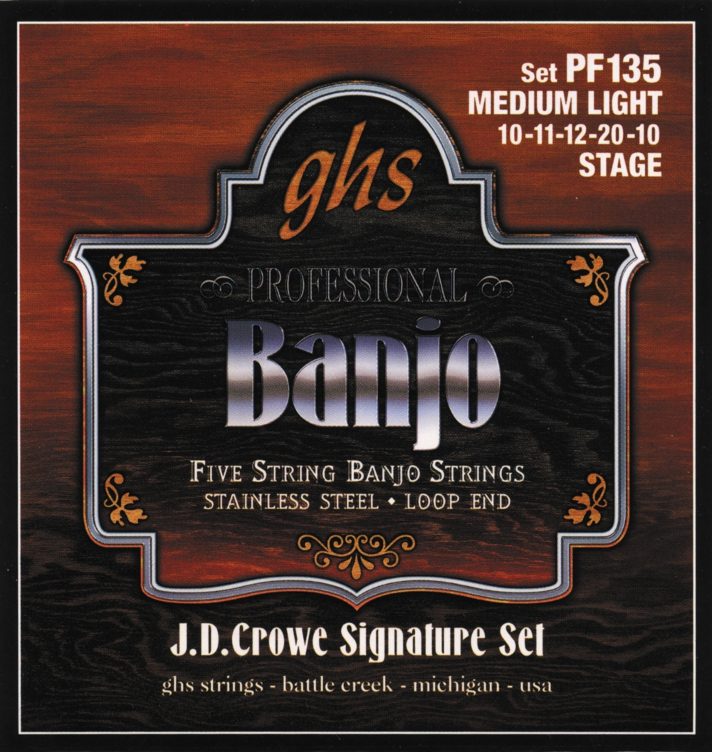 GHS J.D. Crowe Signature 5-String Banjo Medium Light Strings