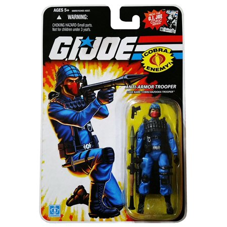 G.I. Joe 25th Anniversary Comic Series Cardback: Cobra Bazooka Trooper (Anti-Armor Trooper) 3.75 Inch Action Figure, Guns, guts, and glory!.., By Hasbro - Storm Trooper Armor