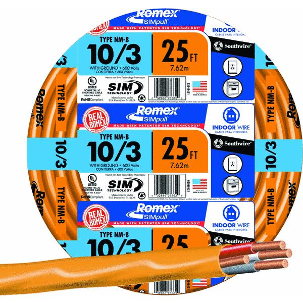 Southwire 10-3 NMW/G Wire