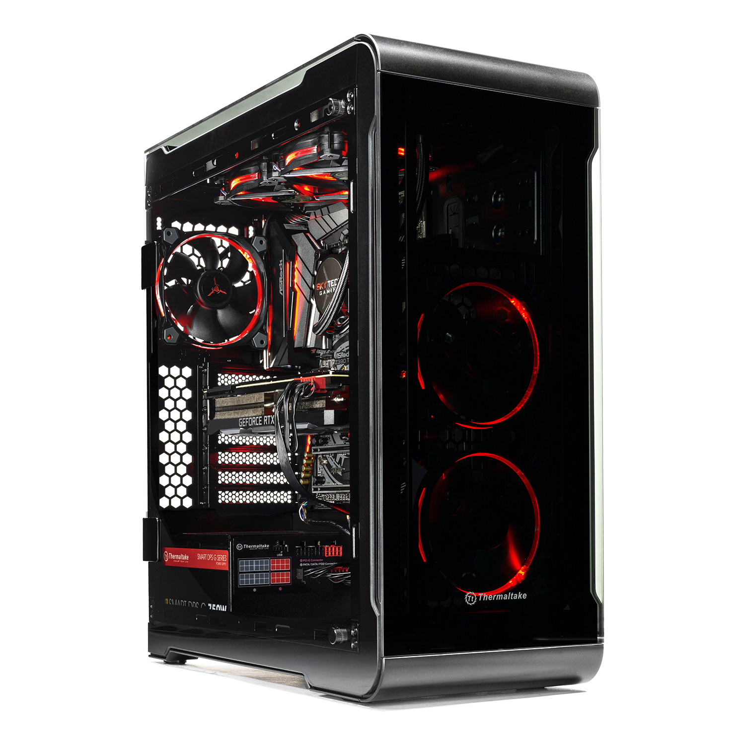 SkyTech Legacy Extreme – VR/4K Ready Gaming PC - i7-9700K, RTX 2080 Ti 11GB, 500GB NVME, 240mm Liquid Cool, 1TB HDD, 16GB DDR4, Window 10 Home