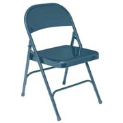 NATIONAL PUBLIC SEATING 54 Folding Chair, Steel, Blue, PK 4