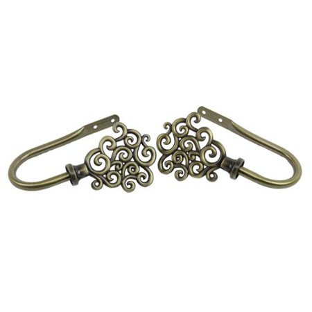 InStyleDesign  Antique Brass Cloud Curtain Holdback Set (Set of 2)