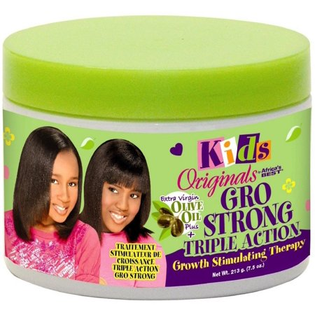 2 Pack - Africa's Best Kids Originals Gro Strong Triple Action Growth Stimulating Therapy 7.5
