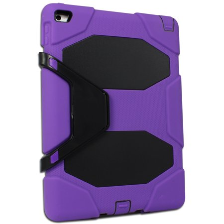 new product dbbae c27e7 Heavy Duty Protective Case Cover Compatible with Apple iPad Air 2 / iPad 6  - Purple