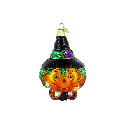 Old World Christmas Jolly Jack O' Lantern Glass Blown (Glass Jack O-lantern)