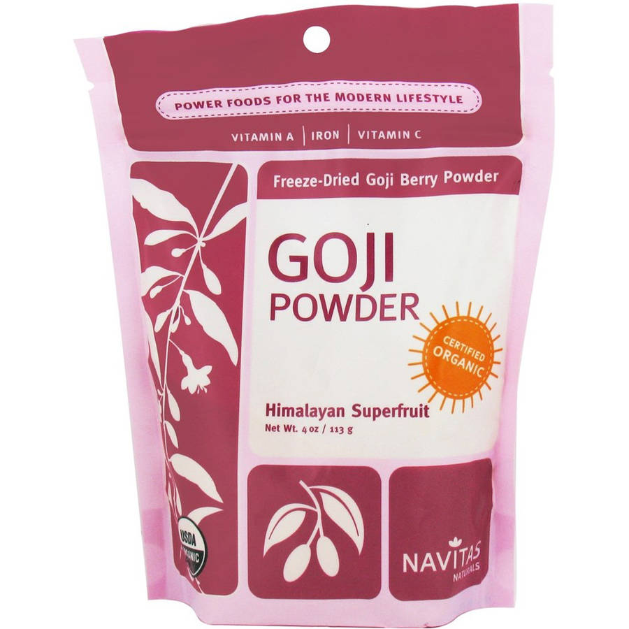 Navitas Organic Freeze-Dried Goji Powder, 4 oz