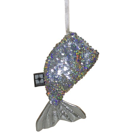 Shiny Color Changing Sequin Mermaid Tail Christmas/ Everyday Ornament ()