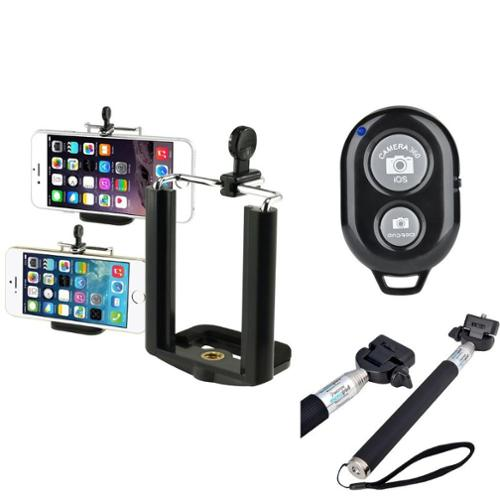 Insten Self-Portrait Monopod Selfie Stick with Bluetooth Remote Shutter for Apple iPhone 6S 6 6+ / Android Phone /Camera