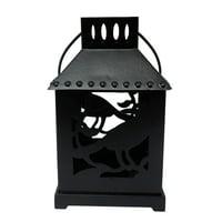 Way To Celebrate Metal Lantern Tea Light Holder - Crow