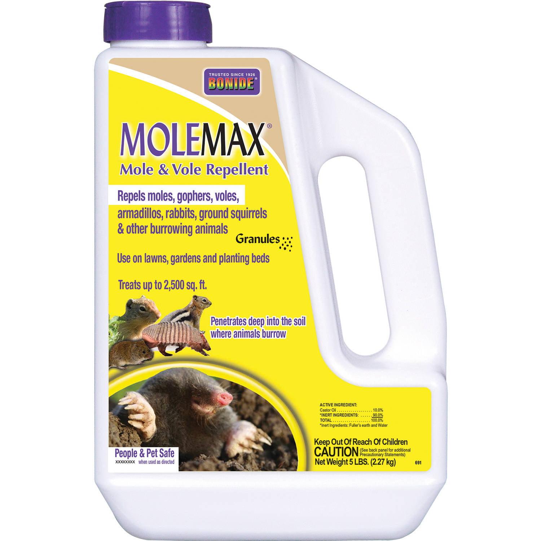 Image of BONIDE MOLEMAX Mole & Vole Repellent, 5 lb Granule