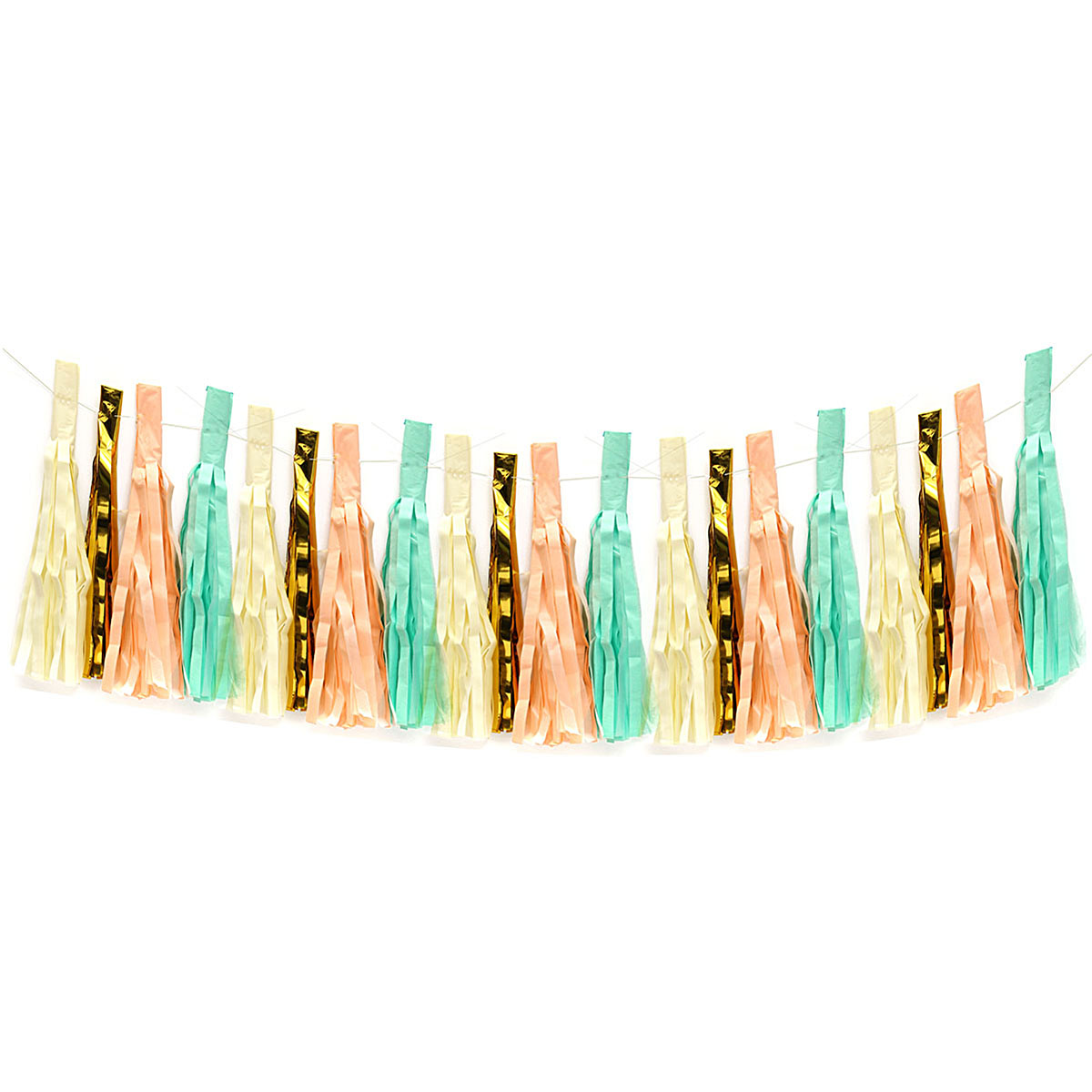 Mint Peach Gold Ivory White Tassel Garland Banner Party Decoration Wedding 1 PAK SPECIAL TODAY !