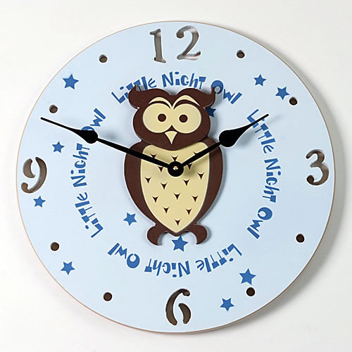 Forest Creations 18'' Owl Wall Clock