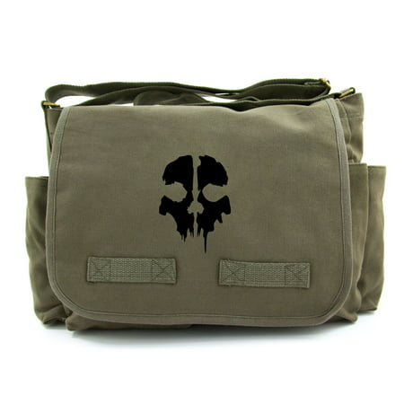 Call of Duty Ghost Skull Logo Army Heavyweight Canvas Messenger Shoulder