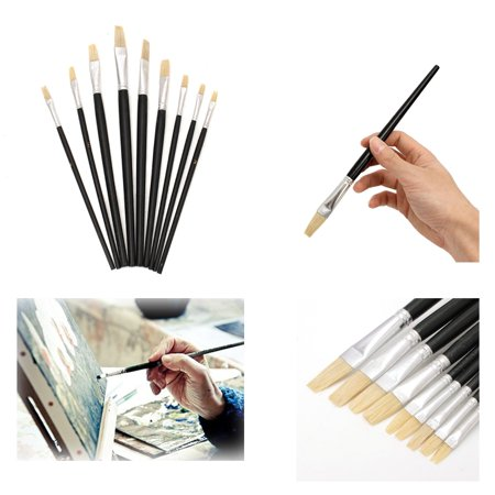 Professional Painting Set 6pcs Acrylic Oil Watercolors Artist Paint Brushes Gifts