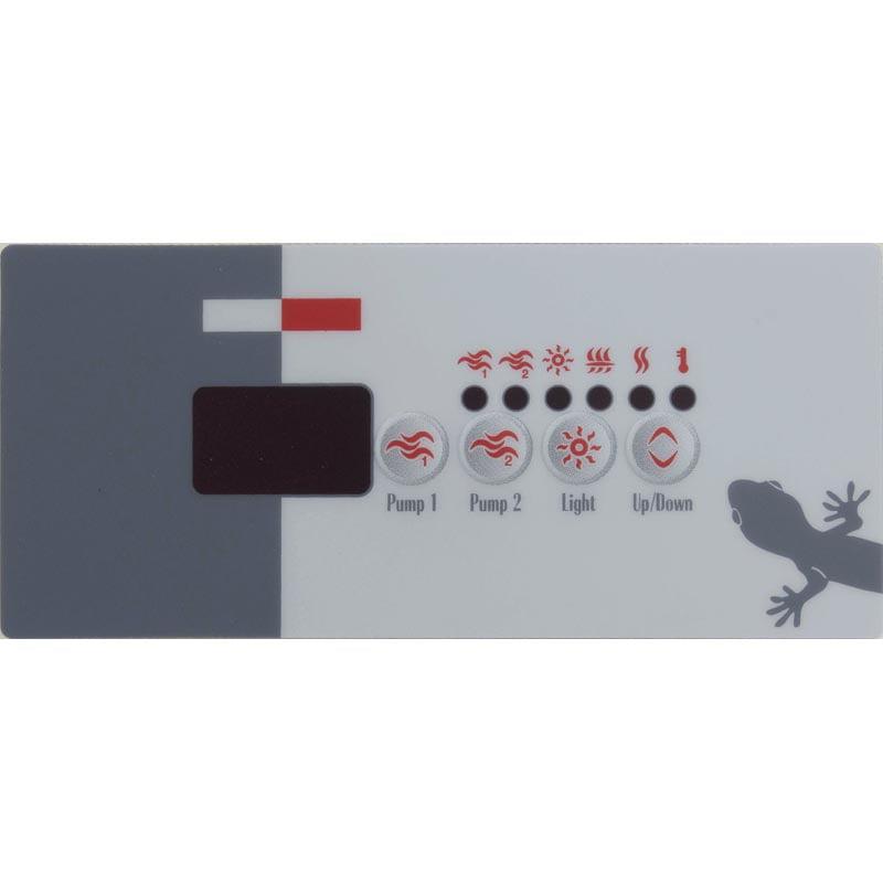 Overlay, Gecko TSC-18-GE2, 4 Button, P1, P2, Light