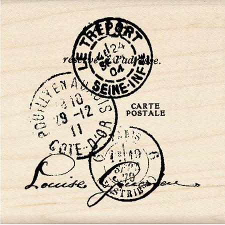 Postal Stamps - Inkadinkado Mounted Rubber Stamp K, Paper Artsy Tre'port Postal 2