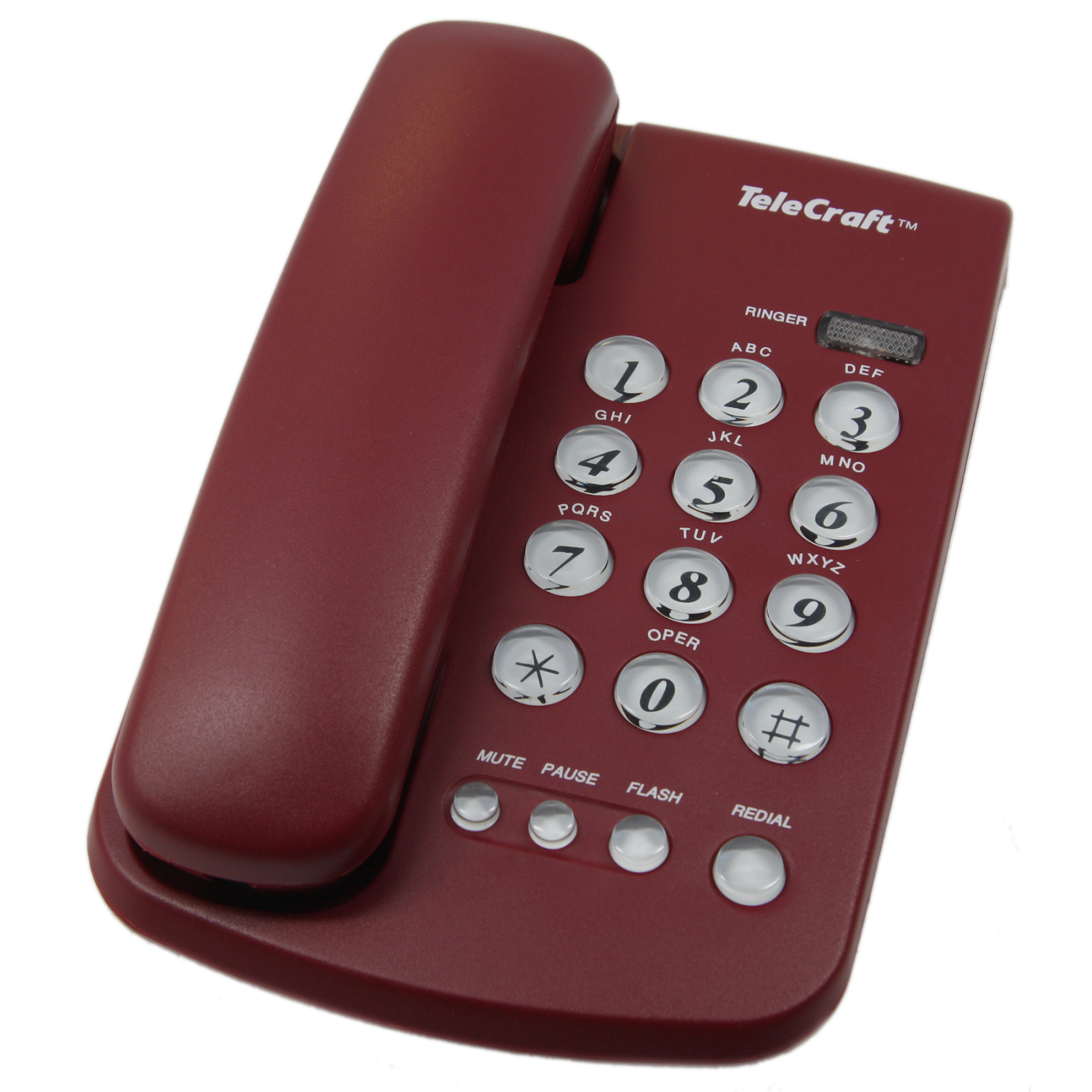 TeleCraft Feature Phone-Burgundy Blis