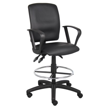 (Boss Office & Home Multi-functional Ergonomic Office Stool with Arms)